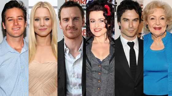 Michael Fassbender, Armie Hammer, Helena Bohman, Carter Betty White, Kristen Bell, Ian Somerhalder