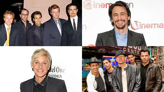 Ellen DeGeneres, James Franco, New Kids on the Block, Backstreet Boys