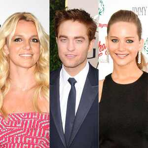 Britney Spears, Robert Pattinson and Jennifer Lawrence