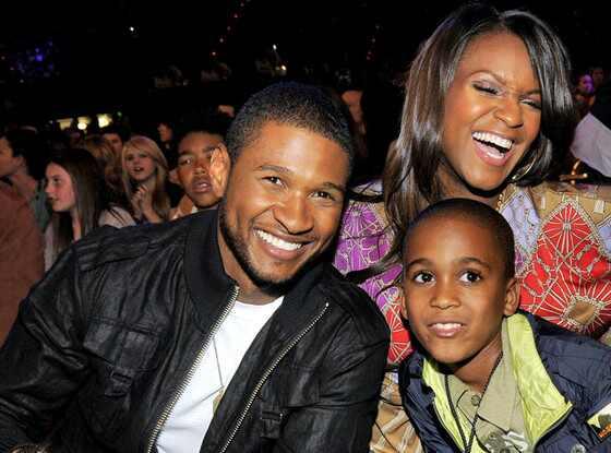 Usher, Tameka Foster, Kile Rover