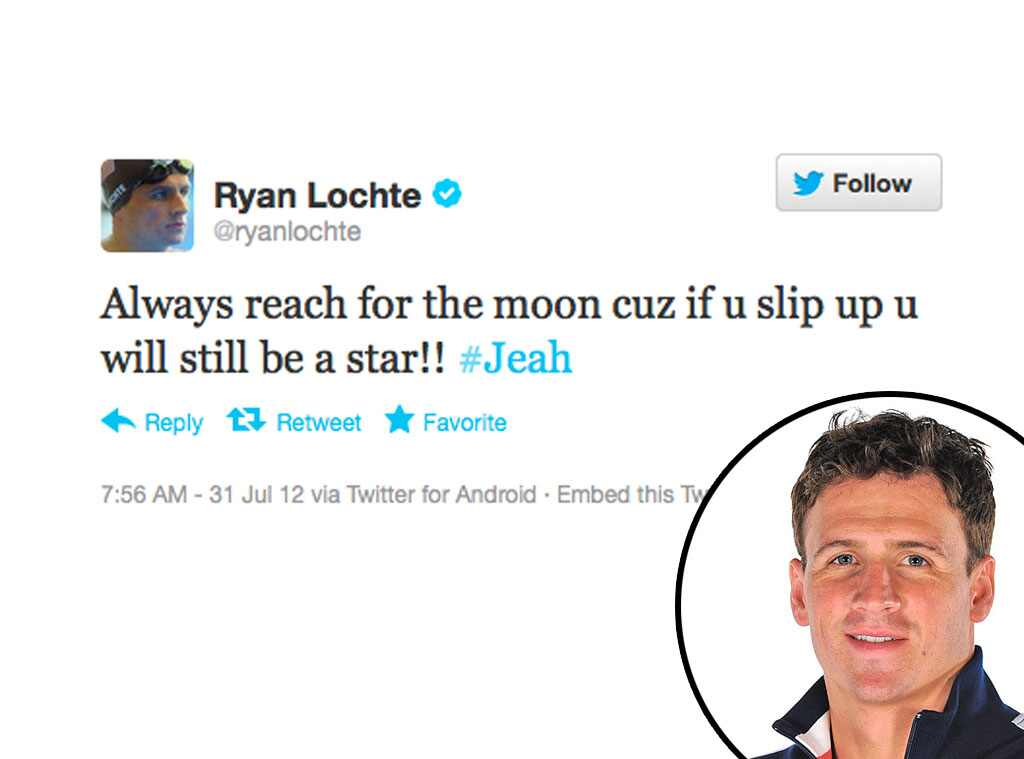Olympic Tweets, Ryan Lochte