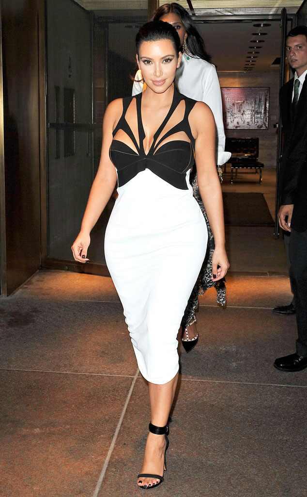 Kim kardashian white dress today