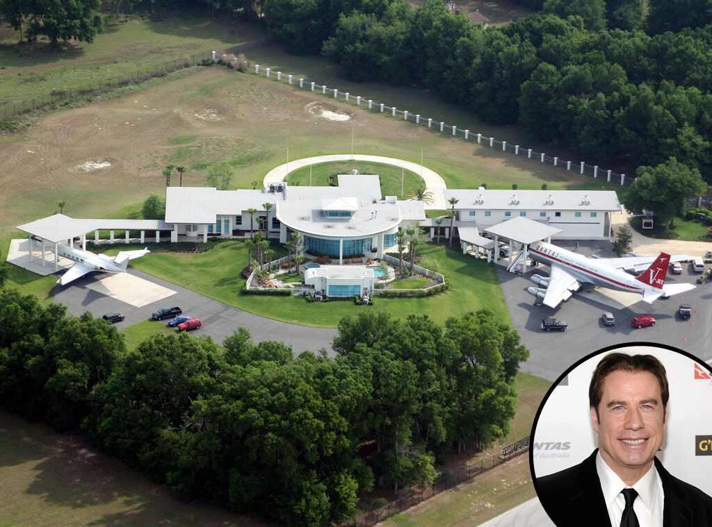 John travolta from celebrity mega mansions e news for Maison john travolta