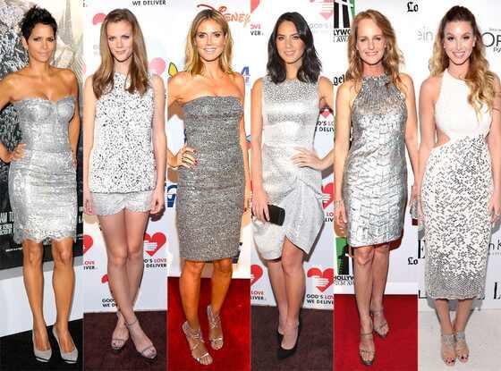Silver: Brooklyn Decker, Halle Berry, Heidi Klum, Helen Hunt, Olivia Munn, Whitney Port