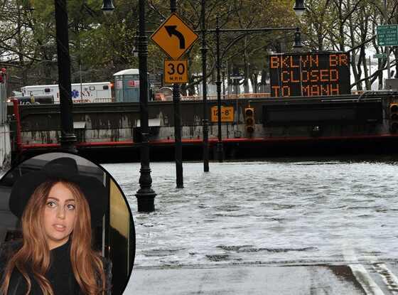 Lady Gaga, Hurricane Sandy