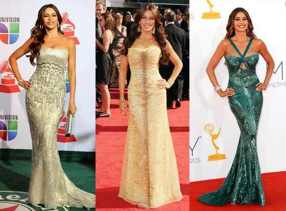Os melhores looks de Sofia Vergara no tapete vermelho