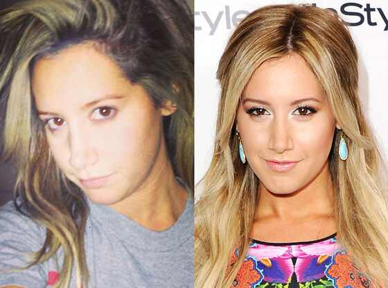Ashley Tisdale, Instagram, No Make-up