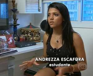 Andrezza, fã Justin Bieber
