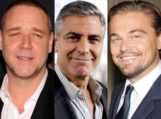Russell Crowe, George Clooney, Leonardo DiCaprio