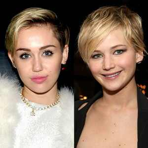 Jennifer Lawrence, Miley Cyrus