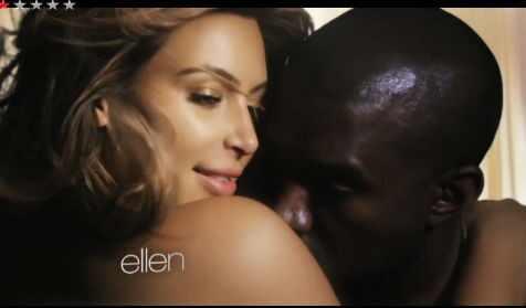Kim Kardashian topless Kanye West videclipe Bound 2