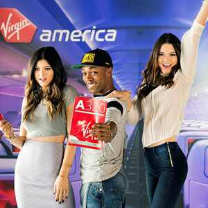 Kylie Jenner, Kendall Jenner, Virgin America