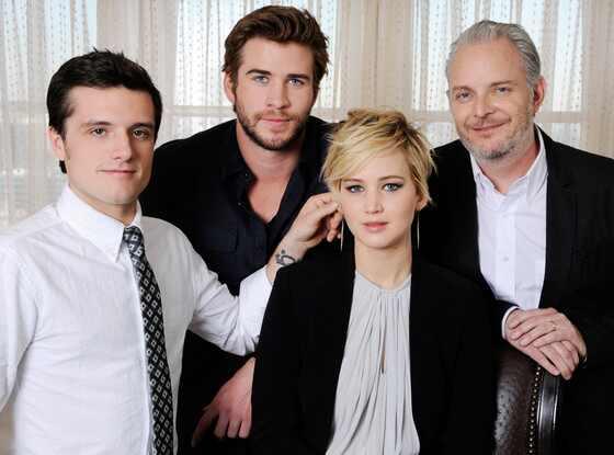 Josh Hutcherson, Liam Hemsworth, Jennifer Lawrence, The Hunger Games: Catching Fire
