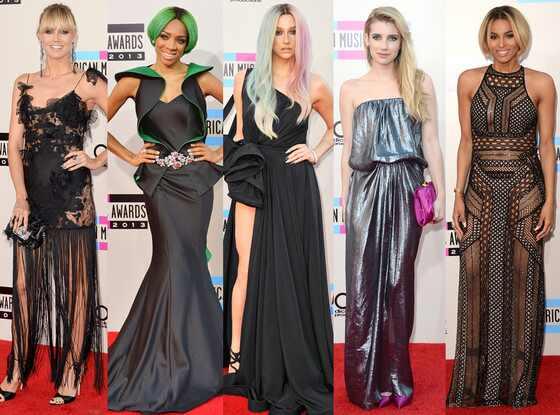 Heidi Klum, Ciara, Emma Roberts, Lil Mama, Ke$ha, 2013 American Music Awards