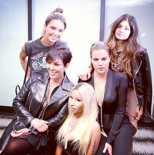 Khloe Kardashian, Kris Jenner, Kendall Jenner y Kylie Jenner, Nicki Minaj