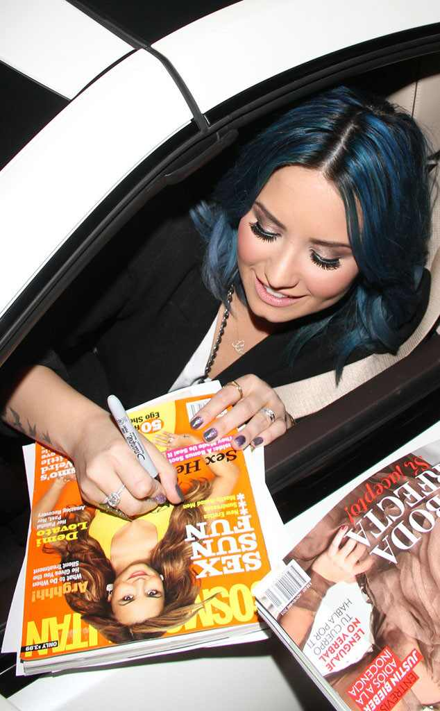Demi Lovato, Jimmy Kimmel, Signing Autographs