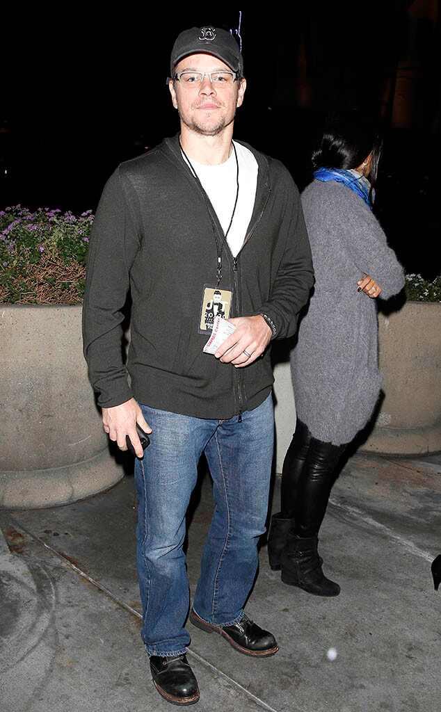 Matt Damon, Justin Timberlake Concert
