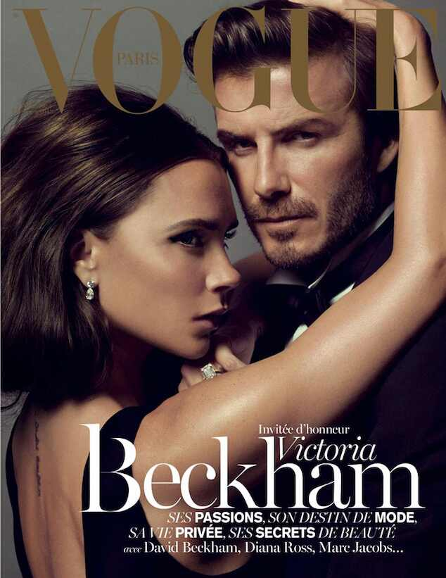 Victoria Beckham e David Beckham capa Vogue Paris