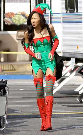 Naya Rivera, Glee, Christmas Elf