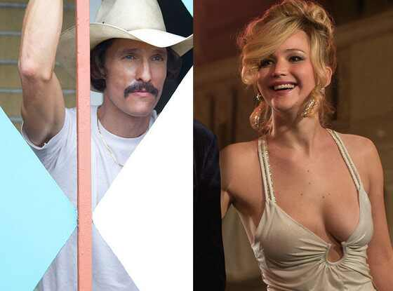Matthew McConaughey, The Dallas Buyers Club, American Hustle, Jennifer Lawrence