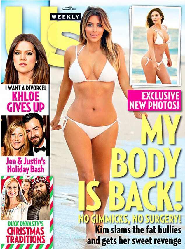 Kim Kardashian magra após gravidez