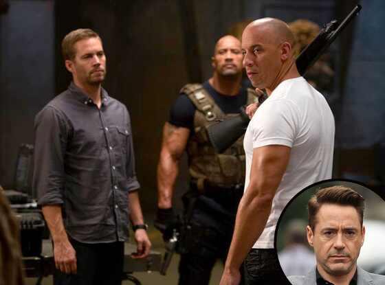 Dwayne Johnson, Paul Walker, Vin Diesel, Fast Furious, Robert Downey Jr.