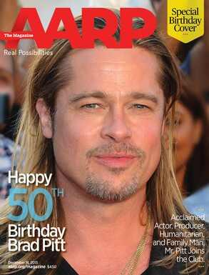 Brad Pitt, AARP Cover