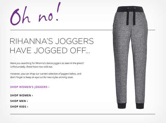 Rihanna, Tesco Jogging Pants