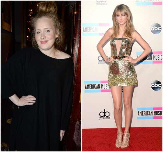 Adele e Taylor Swift, idade celebridades