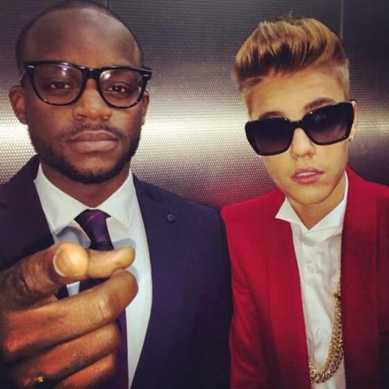 Justin Bieber na estreia de Believe