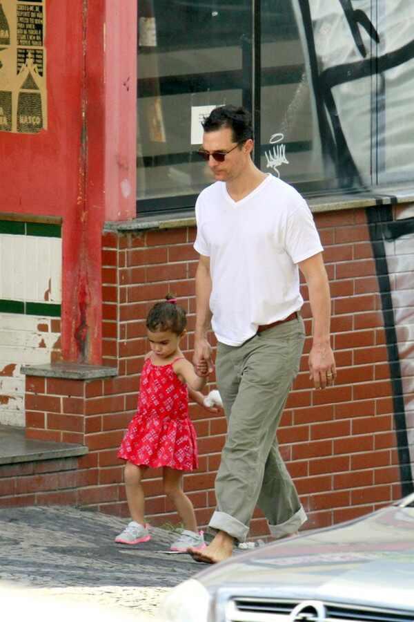Matthew McConaughey e Camila Alves no Brasil