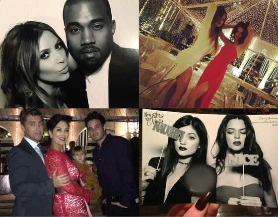 Natal famílias Kardashian Jenner