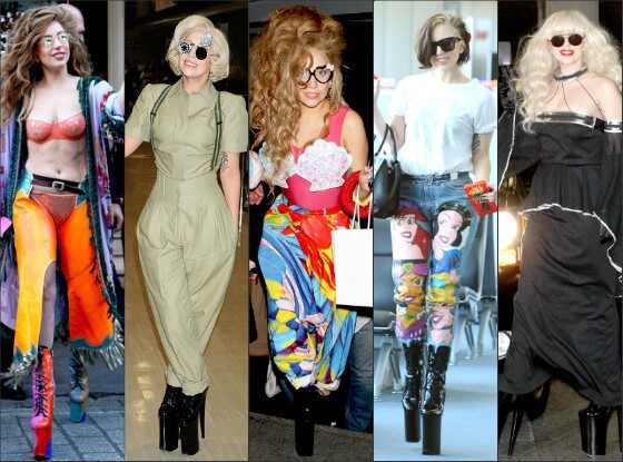 Top mal vestida Lady Gaga