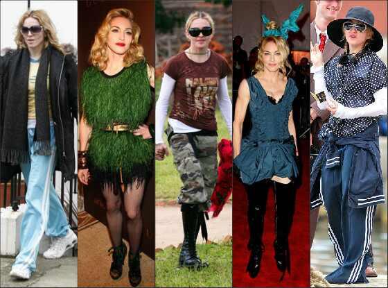 Top mal vestidas Madonna