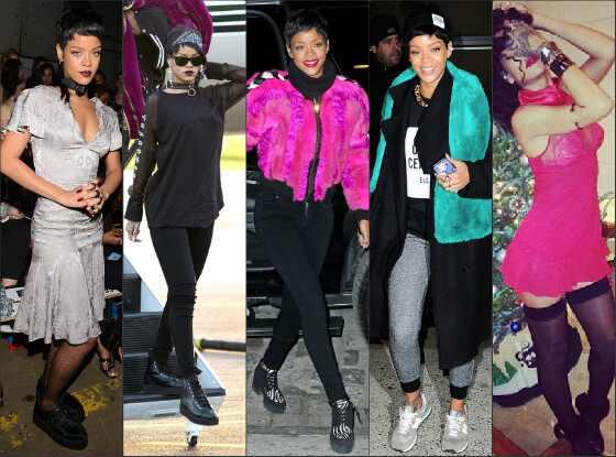 Top mal vestidas Rihanna