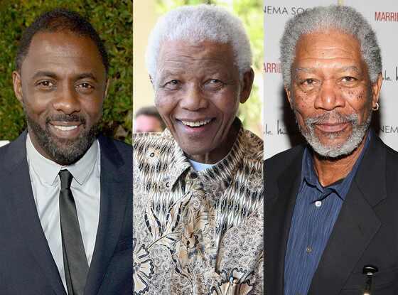 Idris Elba, Nelson Mandela, Morgan Freeman