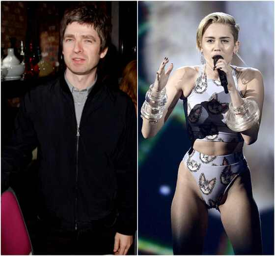 Noel Gallagher e Miley Cyrus
