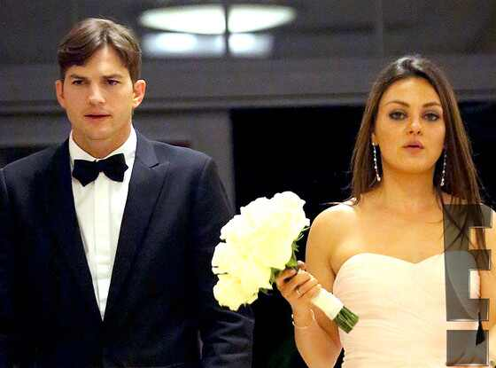 Ashton Kutcher And Mila Kunis Attend Her Brother's Wedding