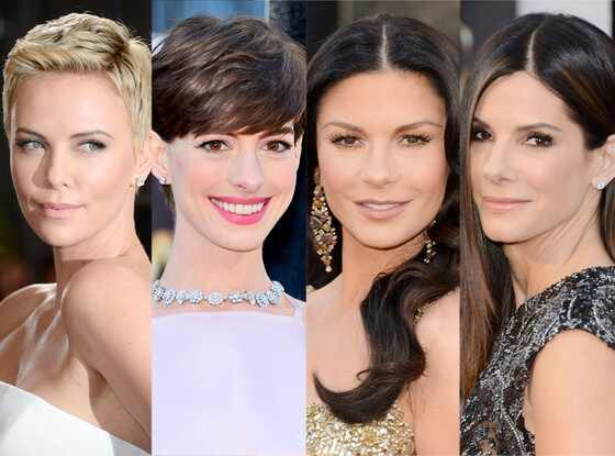 Beauty: Charlize Theron, Anne Hathaway, Catherine Zeta Jones, Sandra Bullock, Oscars 2013