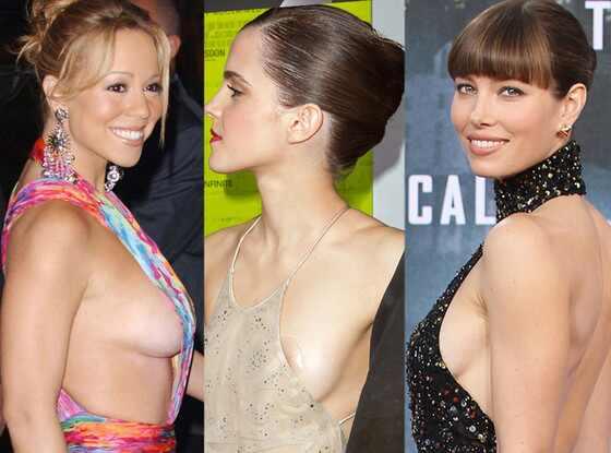 Jessica Biel, MariahCarey, Emma Watson, Side Boob