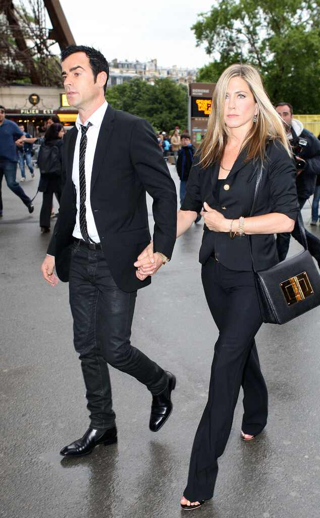 Justin Theroux, Jennifer Aniston, Eiffel Tower