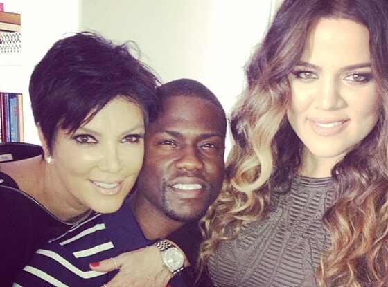 Khloe Kardashian, Kris Jenner, Kevin Hart