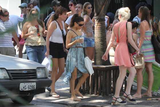 Eva Longoria, Morgan Freeman e Morena Baccarin no Rio