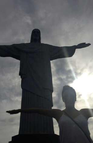 Eva Longoria passa dia de turista no Rio