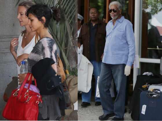 Morgan Freeman e Morena Baccarin