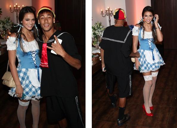 Neymar, Bruna Marquezine, aniversário Thiaguinho