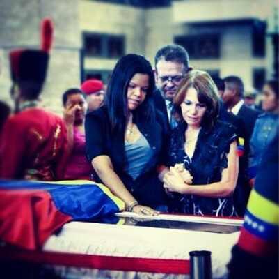 Calle 13, Hugo Chavez, Maria Gabriela Chavez, Flor Joglar de Gracia