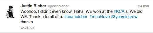 Justin Bieber Twitter