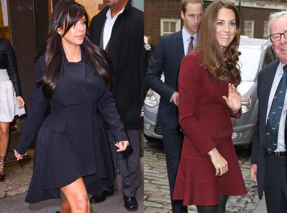 Kim Kardashian, Kate Middleton, Duchess Catherine, Appearance, Feminine Dress