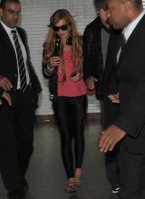 Lindsay Lohan chega ao Brasil